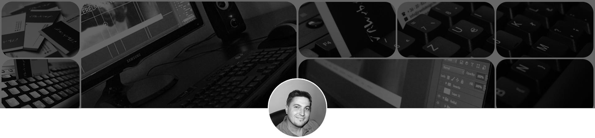 Webdesigner oldal fejléc