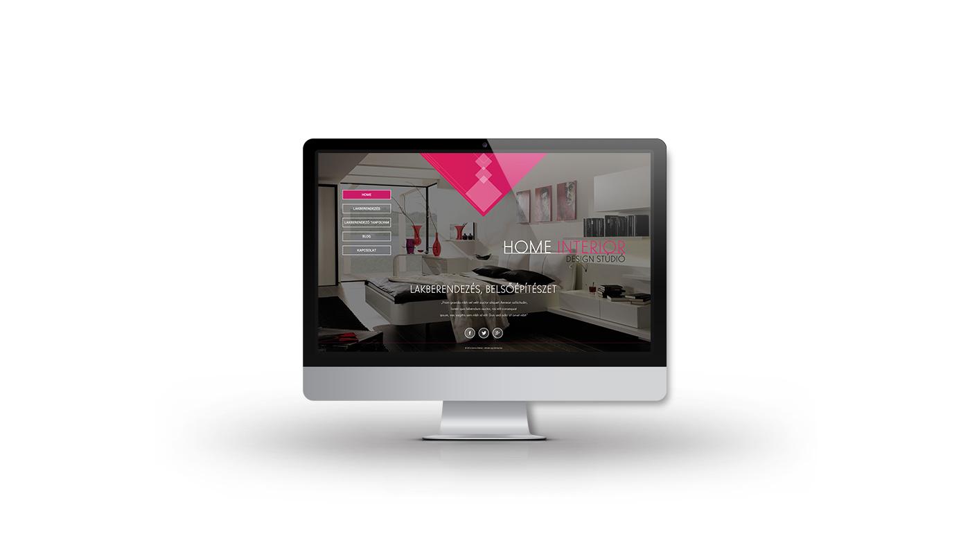 Home Interior portfolio screen