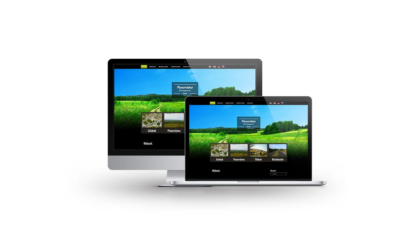 Panoráma Villapark portfolio screen