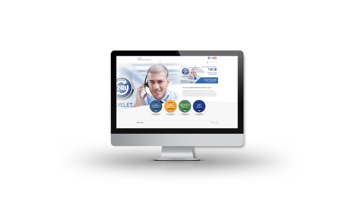 Zuglói Rendészeti Központ portfolio screen